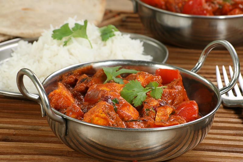 indian dish of paneer and pepper curry